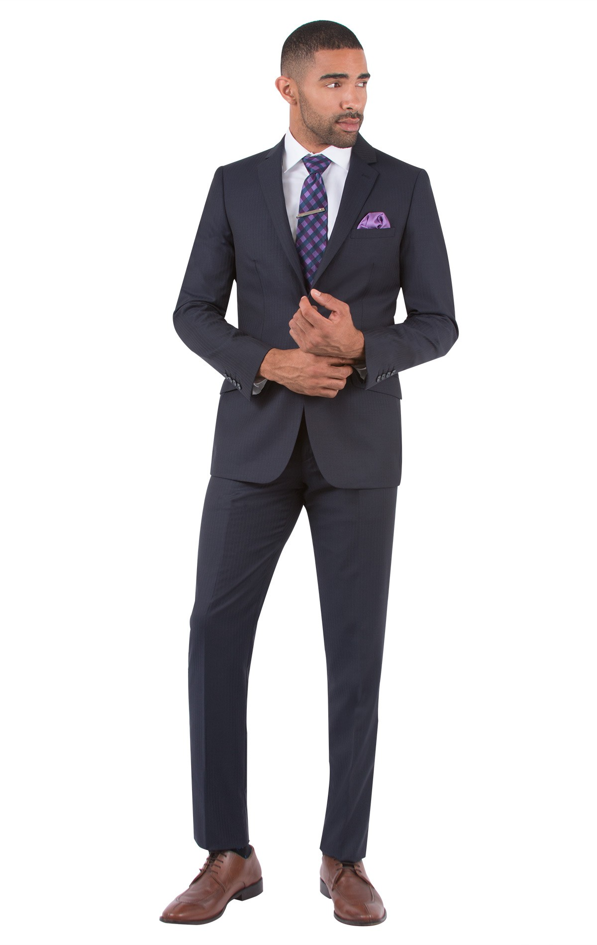 mens suits -50% off midnight stripe slim fit suit ... DRFSFWG