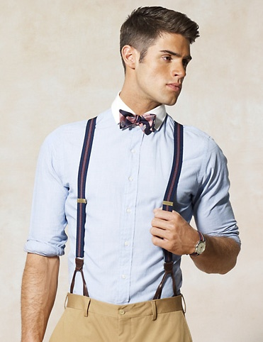 mens suspenders button suspenders and a bow tie for a classic look LQNGCRB