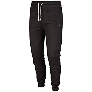 mens training fitted jogger soccer pants (black) UOZQGGV
