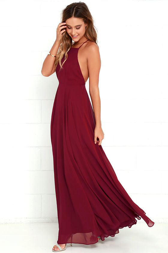 mythical kind of love wine red maxi dress 1 ABHOAKQ
