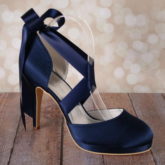 What you should wear with your navy blue shoes fashionarrow navy blue shoes design your own wedding shoes design my own wedding shoes navy junglespirit Choice Image