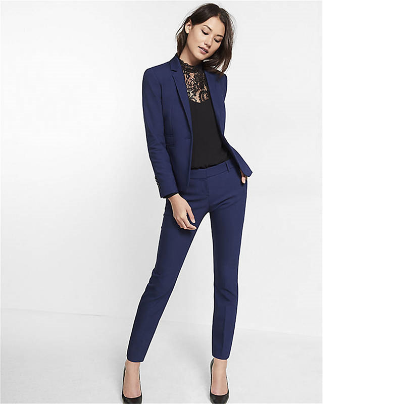 navy blue womens suit slim fit women tuxedos shawl lapel suits for women  one KQBYGEN