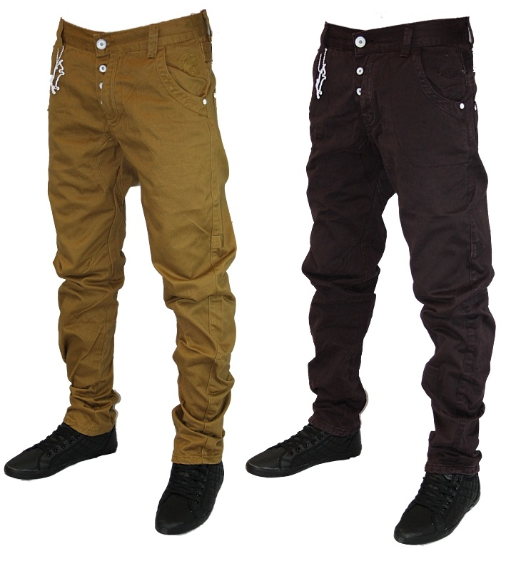 new mens eto jeans em169 em206 designer tapered fit twisted leg chinos all  sizes XIRERBZ