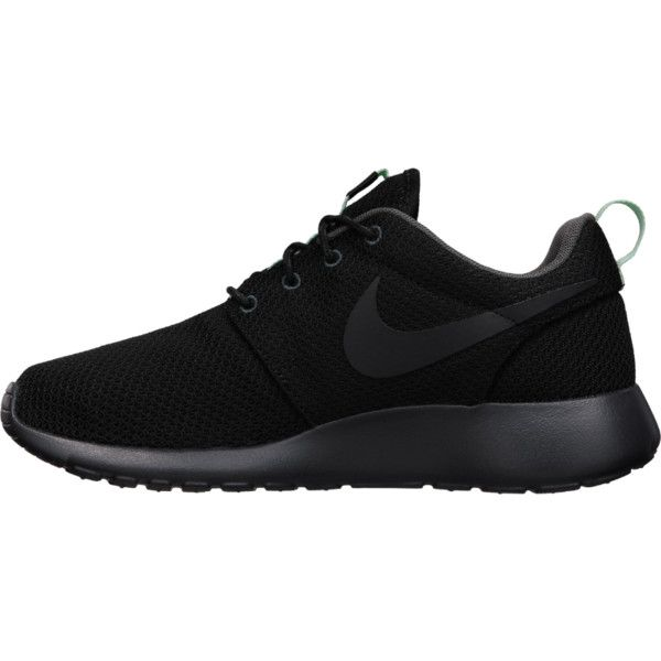 nike black trainers the nike roshe run womenu0027s shoe. ($75) ❤ liked on polyvore featuring shoes FCUAUKI