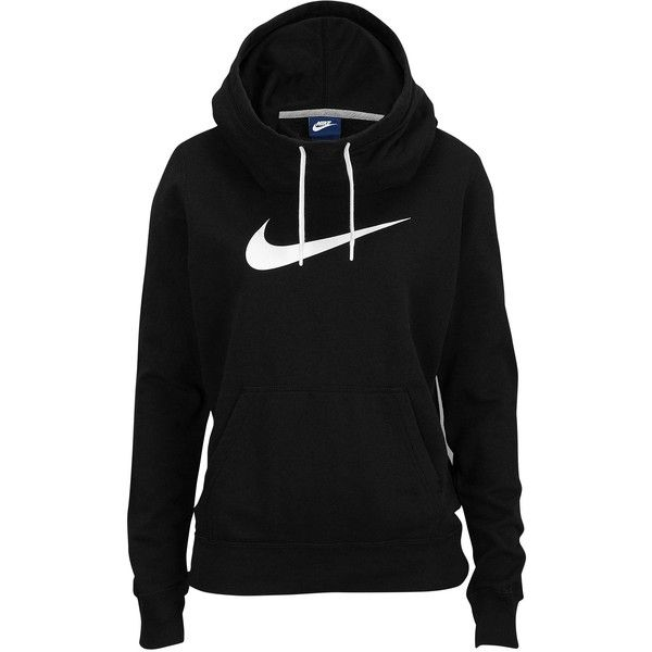 nike clothes nike club fleece funnel hoodie womenu0027s ($50) ❤ liked on polyvore featuring  tops, OPGZUOD