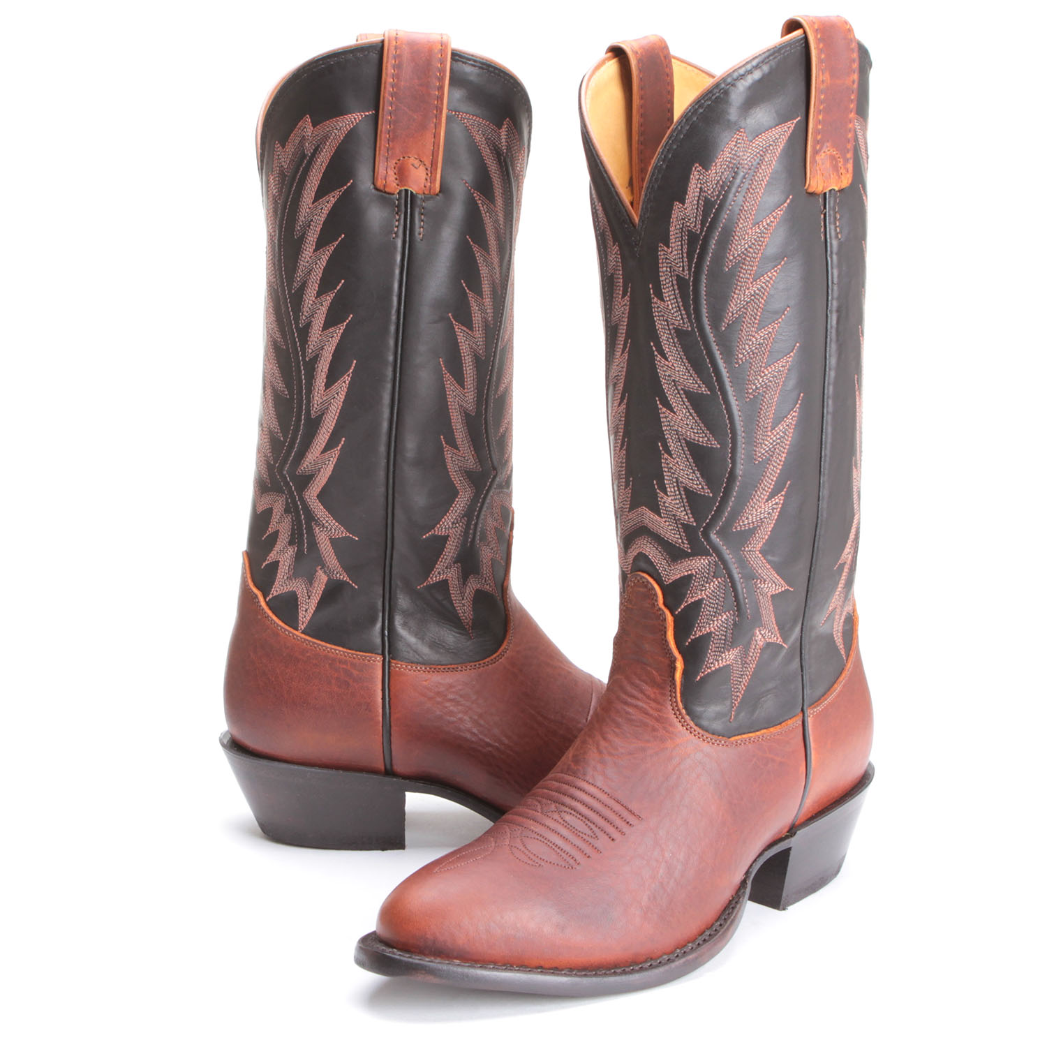 nocona boots pfi bootdaddy collection with nocona mens ranch calf round toe cowboy boots  brown KMOHVKL