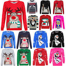 novelty christmas jumpers christmas xmas unisex jumper sweater retro novelty vinatage ladies mens  size new RMADKEF