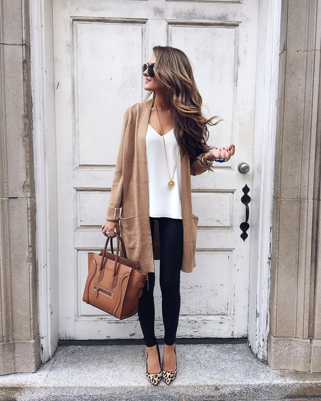 outfit ideas fall winter outfits cardigan skinny jeans beige and black GVCUXDE