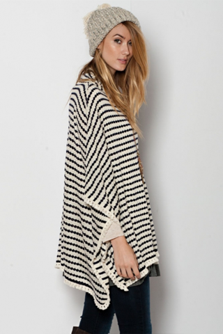 oversized striped poncho sweater KUNJZPP