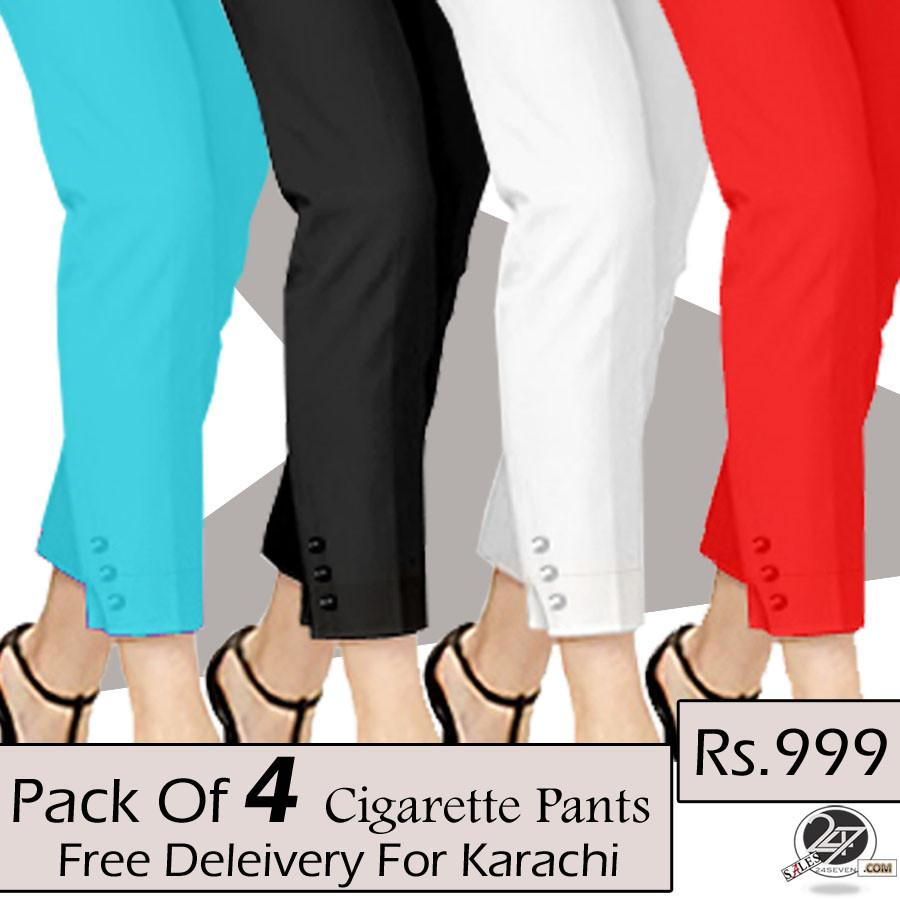 pack of 4 cigarette pants (free delivery for karachi) OFDUQEC