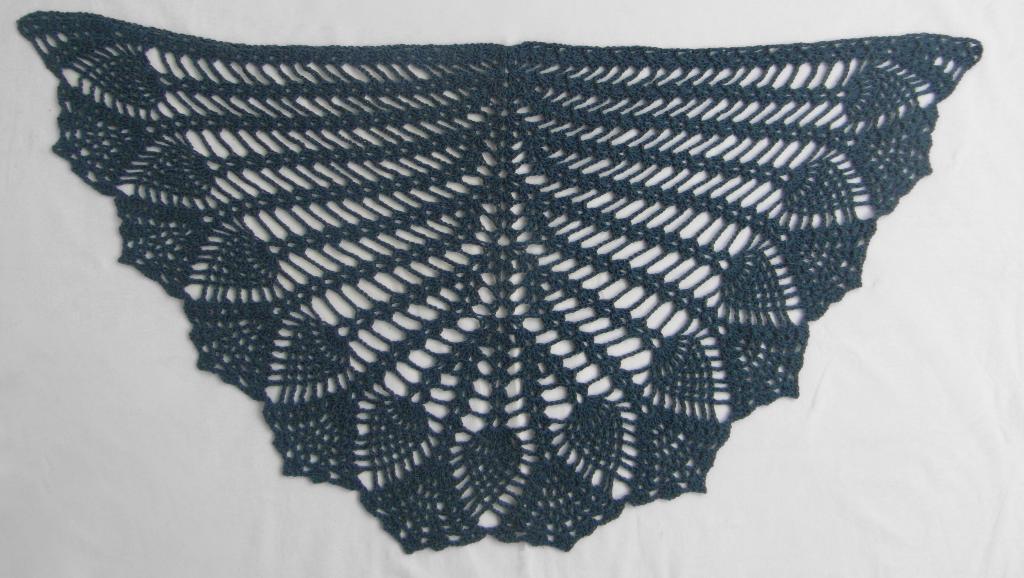 pineapple crochet shawl TPWZDMC