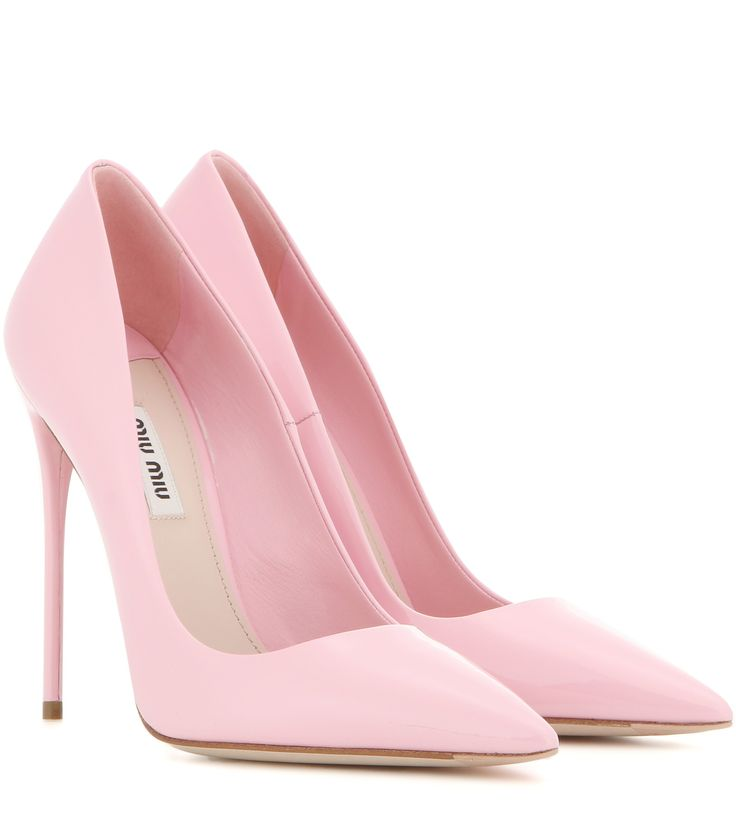 pink heels miu miu patent leather pumps OFAIGPO
