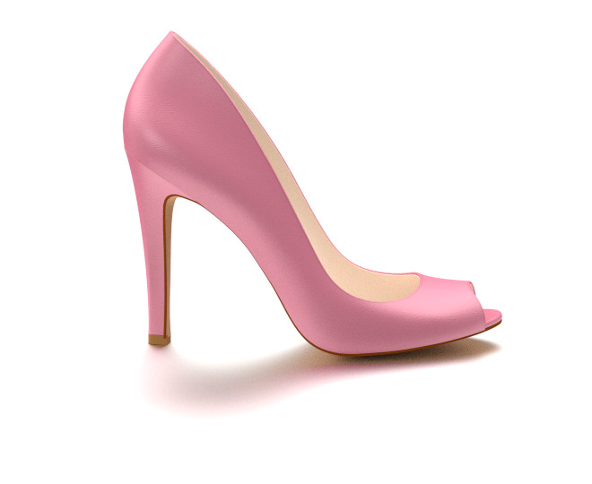 pink heels peep toe, pink soft leather IBIXSKD