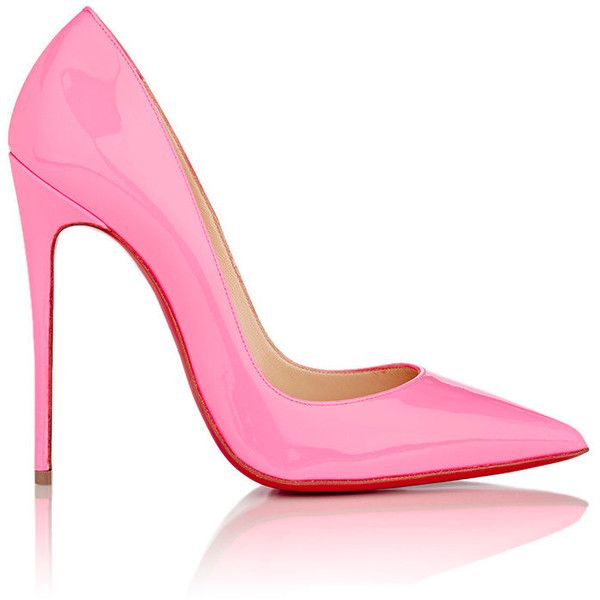 pink heels see this and similar christian louboutin pumps - christian louboutin  shocking pink patent leather LVZZYVY