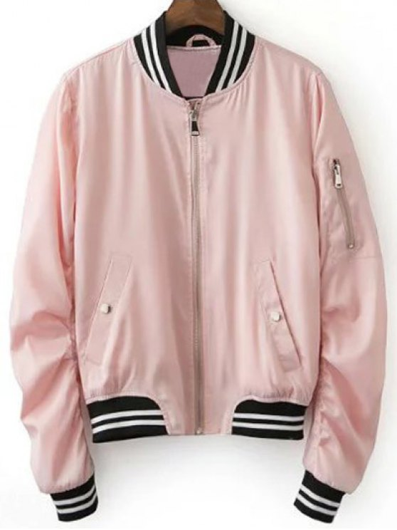 pink jacket fancy pink baseball jacket - pink s GWHTLJZ
