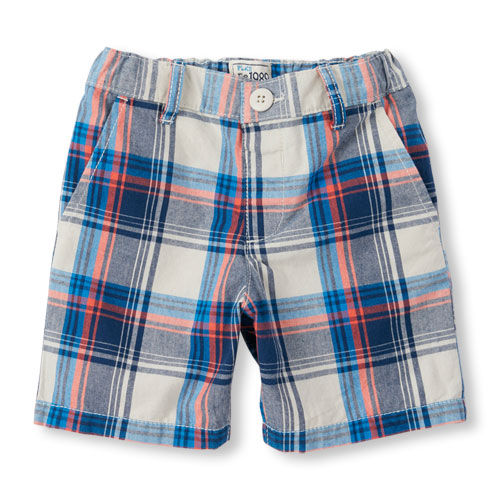 plaid shorts image for toddler boys plaid woven shorts from the childrenu0027s place VSHNXPR