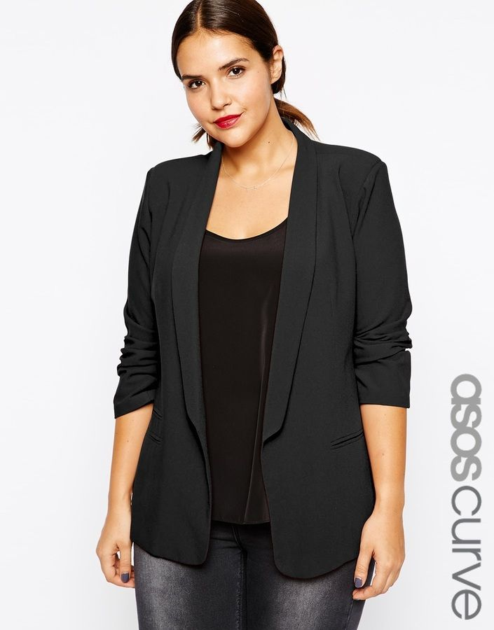 plus size blazers plus size blazer - love the slim lapel (perfect for dressy nights)! PNWYVYB