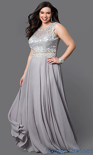 plus size evening gowns dq-9322p FCBVOCB
