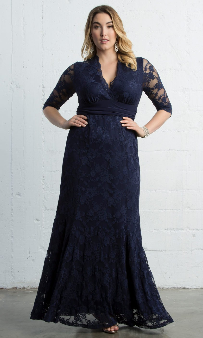 Guide to buying plus size evening gowns