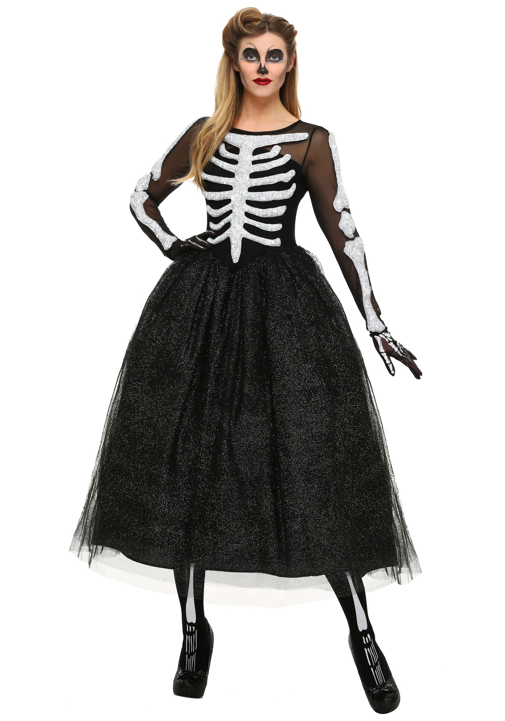 plus size halloween costumes womenu0027s skeleton beauty plus size costume FQHLIWR