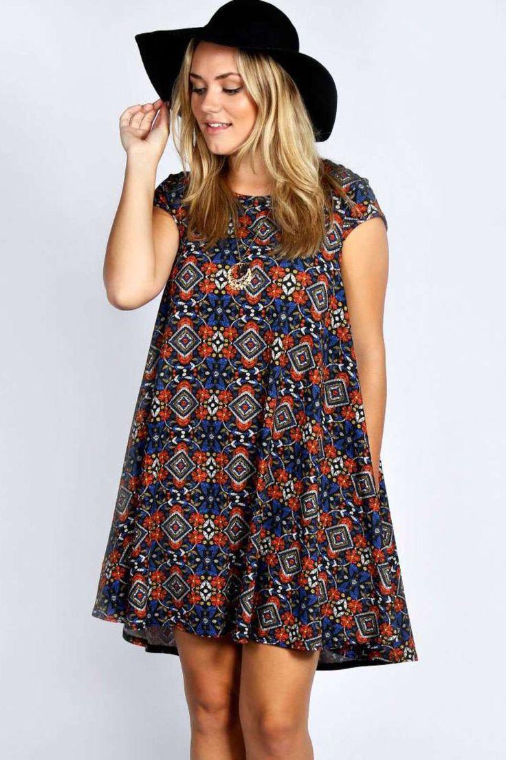 plus size summer dresses plus edie cap sleeve swing dress alternative image KLLPHFH