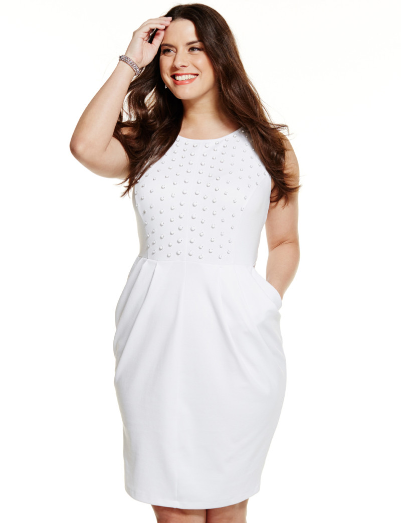 Look beautiful with plus size white dress