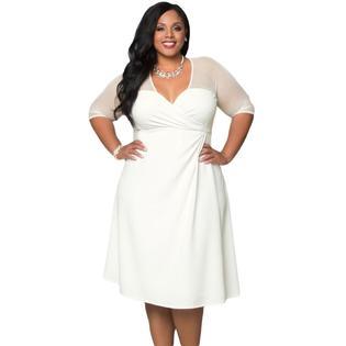 plus size white dress www.virtualstoreusa.com plus size xxl women fashion half sleeve dress big  size LWJPEZO