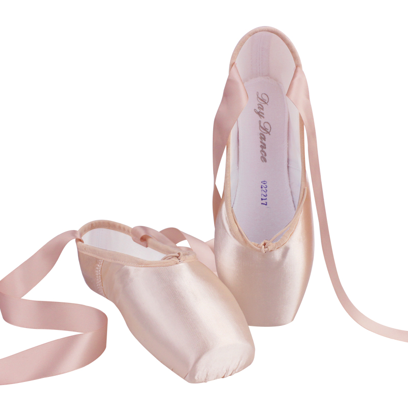 professional girls adult ballet shoes flesh satin ballet pointe shoes for  ballerina-in ballet from MPEVWIR