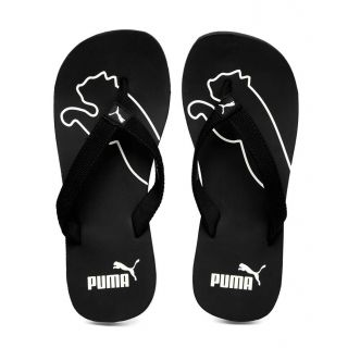 Puma slippers puma menu0027s black colaba slippers u0026 flip flops XJNKCKE