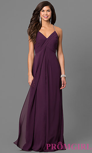 purple prom dresses eggplant purple chiffon long prom dress - promgirl XAFJTRH