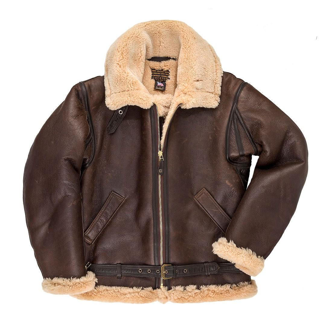 r.a.f. sheepskin bomber jacket ... GWPVPIW