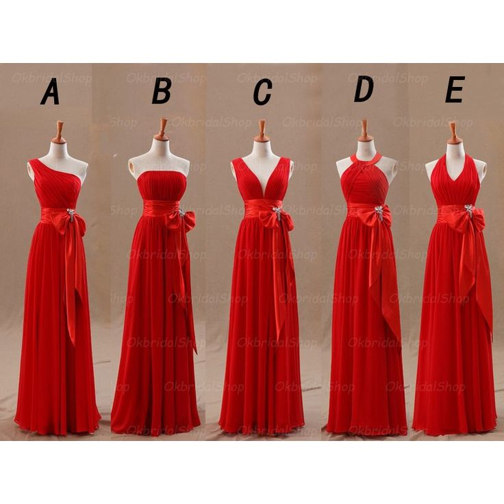red bridesmaid dresses long bridesmaid dress, red bridesma ILGLYEV