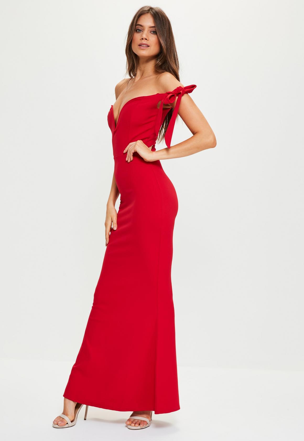 red maxi dress red sweetheart neck bardot tie maxi dress RHZAJKW
