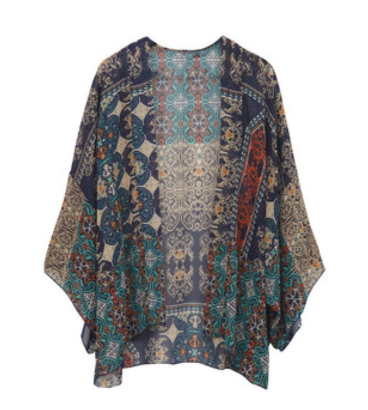 renee c jennifer graphic print kimono cardigan - stitch fix $48 WWMPDPZ