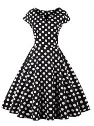 retro dresses polka dot pattern retro style dress CGDQEFK