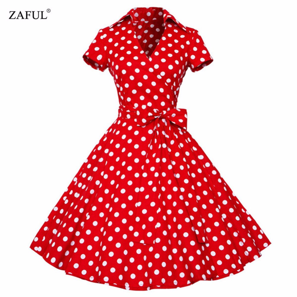 retro dresses zaful plus size s-4xl women retro dress 50s 60s vintage rockabilly swing  feminino vestidos UBBCNXL
