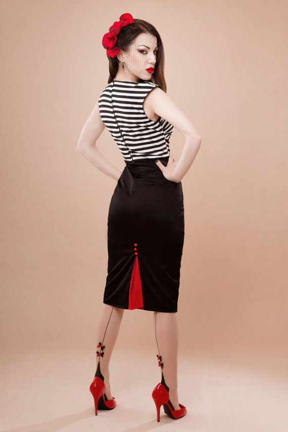 rockabilly clothing striped dress, rockabilly-style WQNRGAI