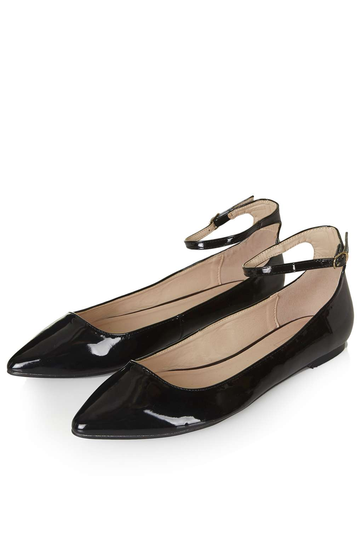 saloon ankle strap flats - topshop AZUHBVH