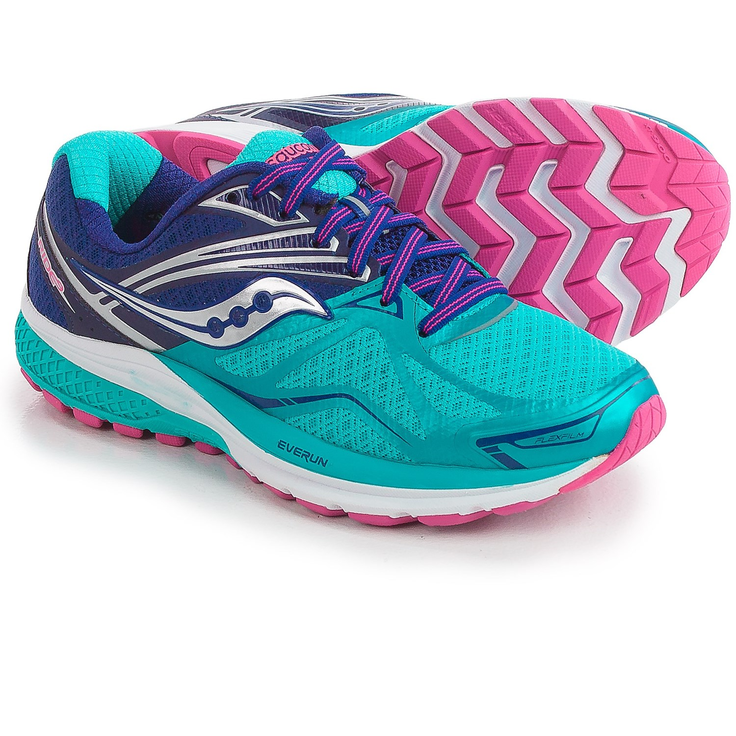 saucony running shoes saucony ride 9 running shoes (for women) in navy/blue/pink OBRDFVG