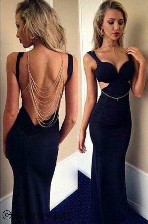 sexy prom dress black prom dresses,mermaid prom dress,sexy prom gown,long prom  gown,backless evening dress,open backs evening gowns BOCVAZW