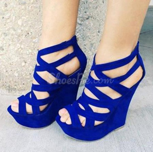 shoes wedges heels blue wedges strappy heels strappy wedge high heels blue  shoes DLOTCZX