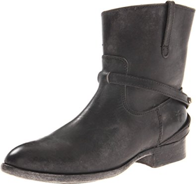 short boots frye womenu0027s lindsay plate short boot, black stone antiqued, ... UNBBGKW