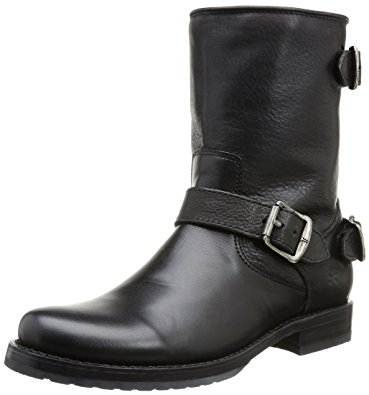 short boots frye womenu0027s veronica back zip short black soft vintage leather boot LYBQSUW