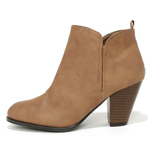 short boots looking sharp taupe high heel ankle boots ($36) ❤ liked on polyvore  featuring shoes AIAXURT