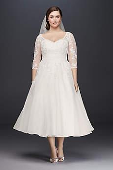 short wedding dress short a-line country wedding dress - davidu0027s bridal collection UEYVTMJ