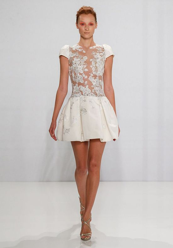 short wedding dresses mark zunino for kleinfeld CFXHGPU
