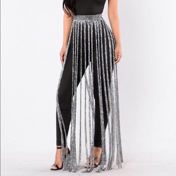 silver fringe skirt! UFYZNMH