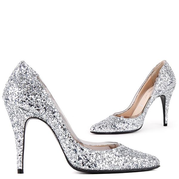 silver glitter heels aquarius - silver glitter FSJTSHR