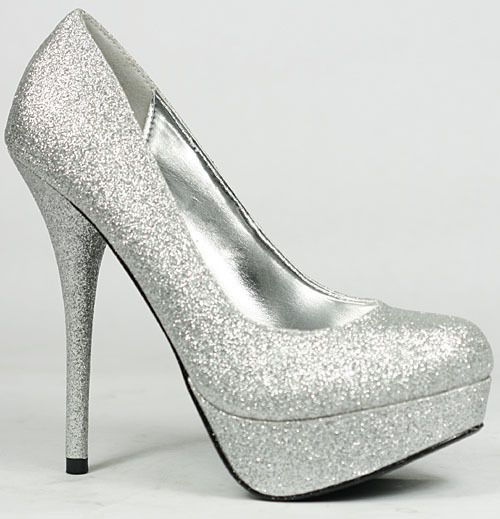 silver pumps shoes / silver heels || RBFIMUF