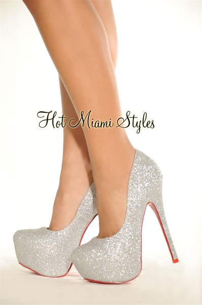 silver pumps silver high shine shimmer high heel red bottom pumps DWBJTSJ